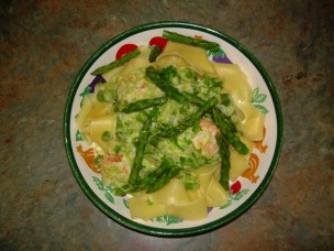 Papardelle with Shrimp and Asparagus