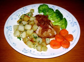 Pork Tenderloin in Red Wine and Shallot Sauce