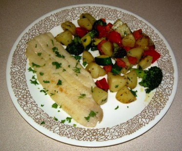 Sole Meunier with Mixed Vegetables